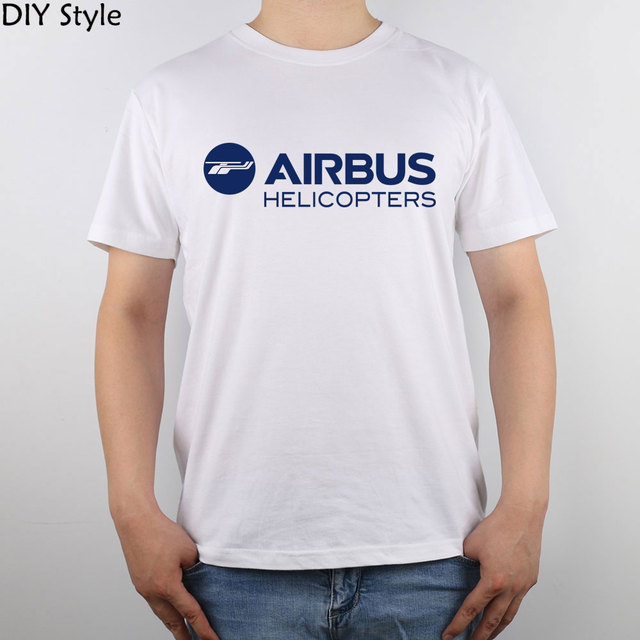 Airbus Helicopters logo 2014  T-shirt Top Pure Cotton Men T shirt New Design High Quality
