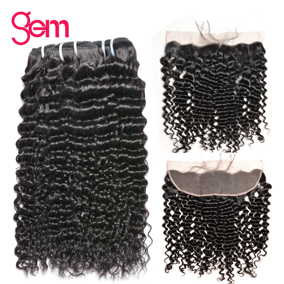 Peruvian Curly Bundles With Closure Human Hair 3 Bundles With Frontal Pre Plucked Frontal With Hair