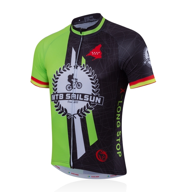 2123be4eb HOT SAIL SUN Men Pro Cycling Jersey Top Green Black Team Bicycle Clothing  mtb Summer Bike Shirts Jacket Breathable