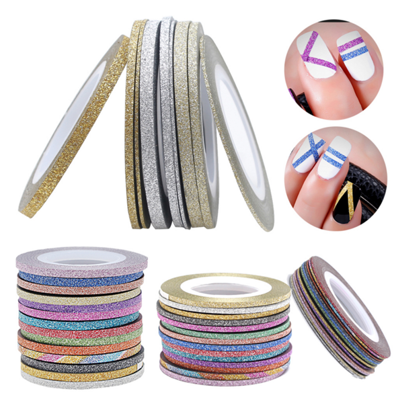 Gold Striping Tape Nail Art: 2018 New Matte Gold Silver Lines Nail Art Line 14 Color
