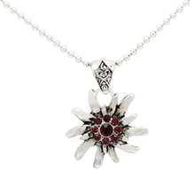 Fashion Bavarian Jewelry Purple CZ Flower Pendant Necklace Oktoberfest Bavarian Necklace for Gift  FN0060-3