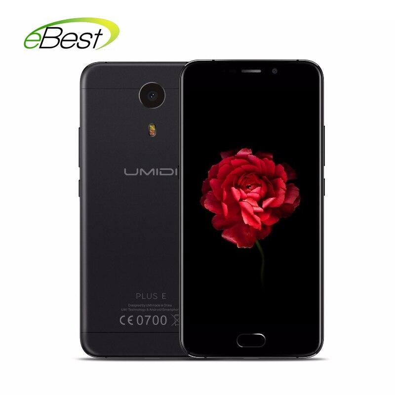 Цена за Оригинал Umidigi Плюс E Смартфон Android 6.0 Helio P20 MT6757 Octa ядро 6 ГБ RAM 64 ГБ ROM 13MP Отпечатков Пальцев 4000 мАч Сотовый телефон