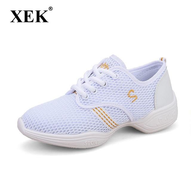 Nuevo 2017 Zapatillas de baile mujeres Jazz hip hop Zapatos salsa  zapatillas para la mujer tamaño 3007761747c