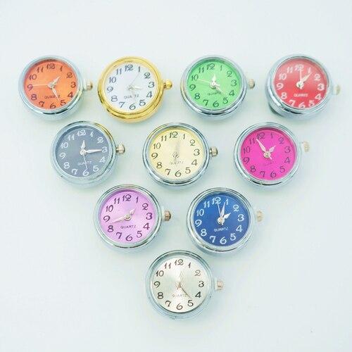 אופנה יופי עגול קוורץ עבודה פופ קסם שעון הצמד כפתורי fit 18MM הצמד צמיד הצמד תכשיטי NS1001