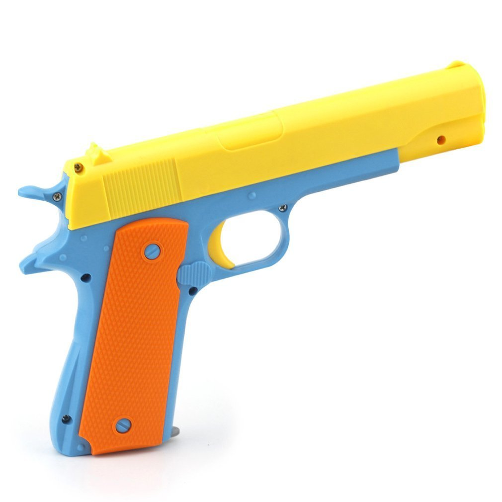 1pcs Kids Toy Gun Children Toy Guns Semi-automatic Toys Imitation Gun Military Models Plastic Shooter EVA Bullets For CS Game