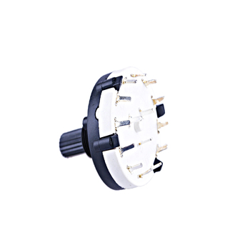 1PC New Rotary Switch Rotary 3 Pole 4 Way Position Black PCB Mount Panel Wire Knob Switch Accessories Durable Home Improvement