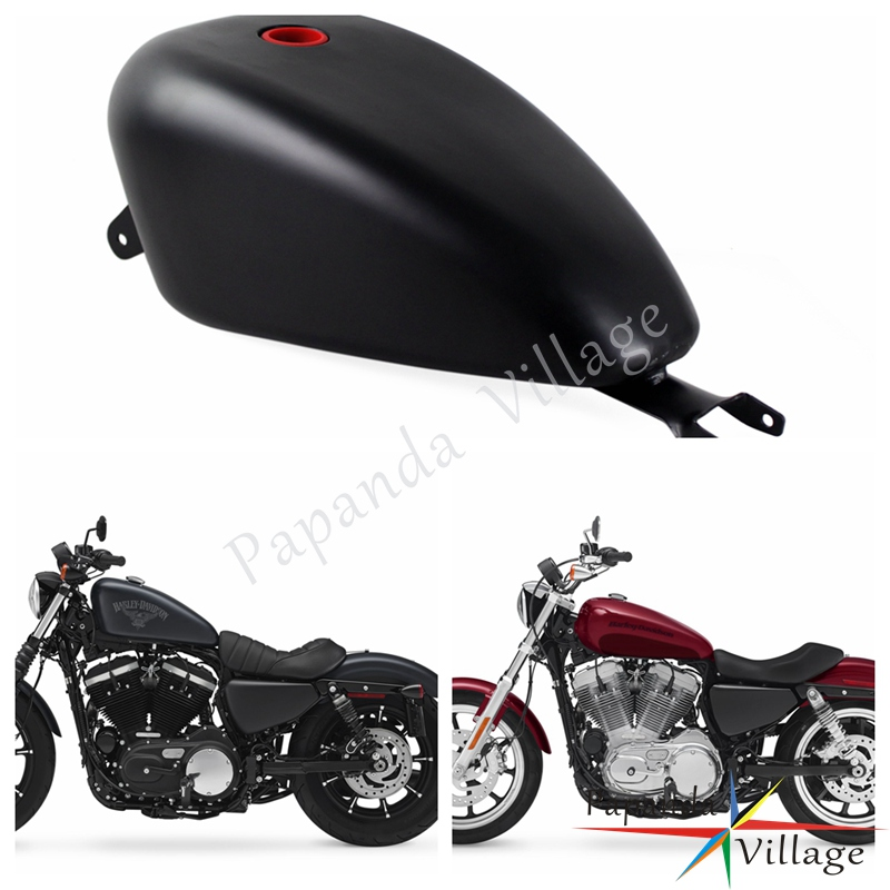 Papanda Black Motorcycle 3.3 Gallon EFI Gas Tank Fuel Tank for Harley Davidson Sportster XL 1200 883 2007-2017 Harley-Davidson Sportster