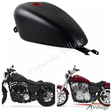 Papanda Black Motorcycle 3.3 Gallon EFI Gas Tank Fuel Tank for Harley Davidson Sportster XL 1200 883 2007-2017 aluminum gold motorcycle fuel gas tank oil cap for harley sportster 1200 883 1996 up