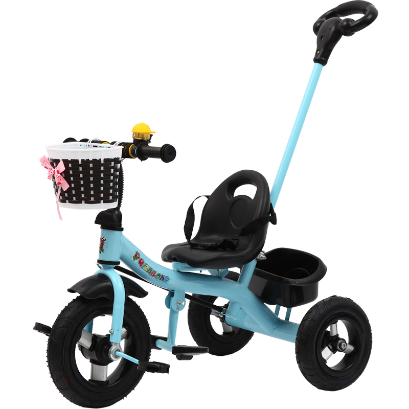Children Three Wheel Balance Bike Tricycle with Removable Push Handle Baby Trolley Bicyc ...