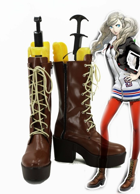 P5A the Day Breakers Persona 5 Anne Takamaki Cosplay Shoes Boots Custom Made