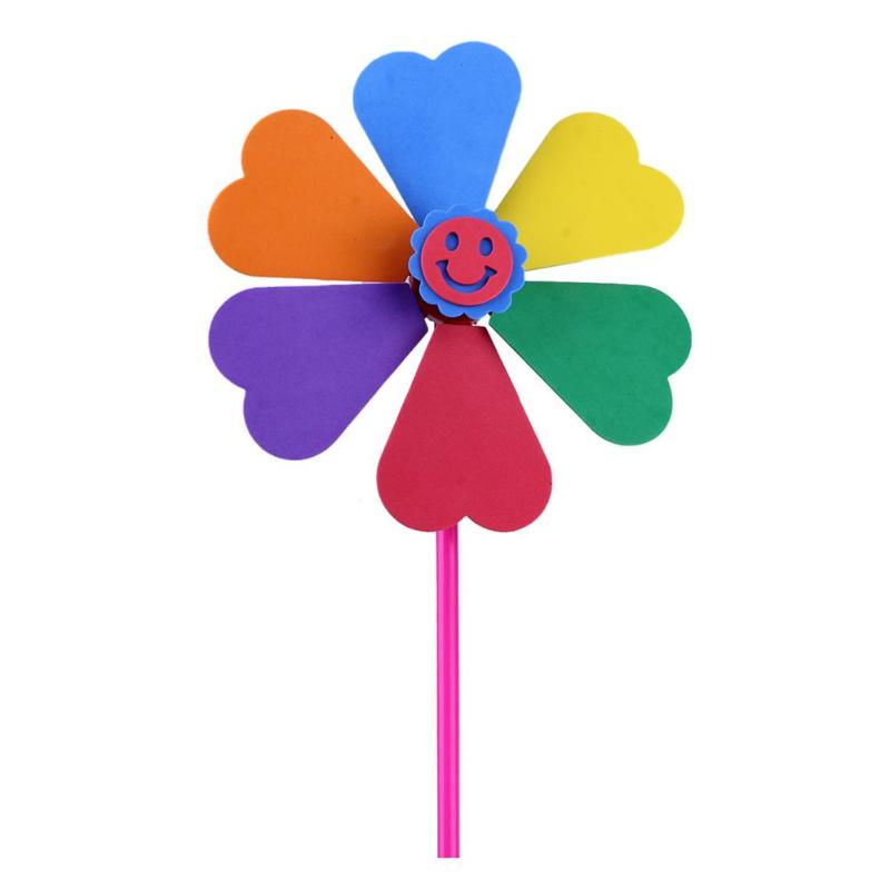 Toy Windmill Pinwheel Pasting Kids Manual DIY Multicolor EVA 1PC Classic Baby-Boy-Girl