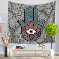 Hamsa Hand Tapestry Indian Mandala Floral Wall Hanging Tapestry for Home Bedspread Art Carpet tapestry Wall Hanging Tapiz Pared