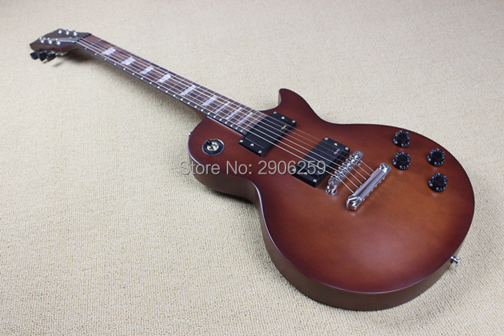 Custom Shop LP studio electric guitar real guitar pictures high quality matte color black hardware free shipping все цены