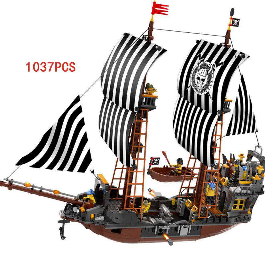Hot Pirates of the Caribbean dark ship moc building block model Crew Captain figures bricks educational toys for kids gifts 8pcs set the octonauts cartoon action figures kids toys captain barnacles medic peso model children birthday gifts with box