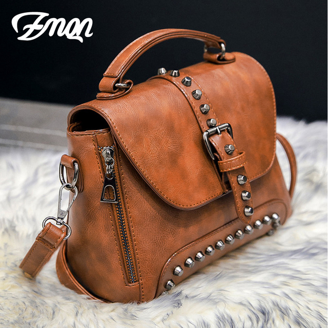 Womens vintage leather shoulder bag