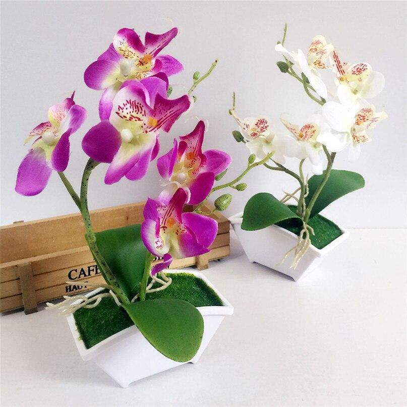 artculos para el hogar venta caliente doble tenedor mariposa orqudea planta bonsai creativo arreglos florales accesorios