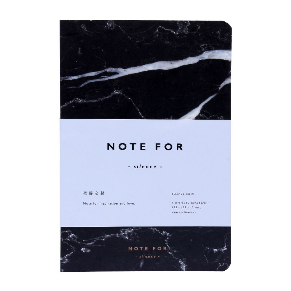 New Fashion Note For Silence Sketchbook Diary Drawing 80 Sheets Creative School Notebook Marble Pattern Office School Supply