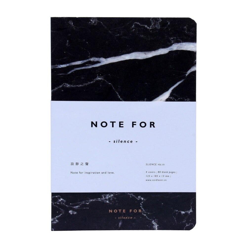 Nouveau Mode Note Pour Silence Sketchbook Journal Dessin 80 Feuilles Creative Cahier D'école Marbre Motif Bureau Fournitures Scolaires