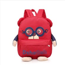 Aged 1-4 Kids baby bag Anti-lost toddler backpack cute animal dog children backpacks kindergarten school bag mochila escolar