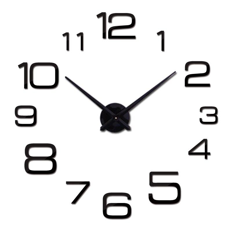 Nouvelle vente bricolage miroir horloge murale autocollant acrylique quartz matériel europe décoration de la maison salon meubles autocollants encore la vie