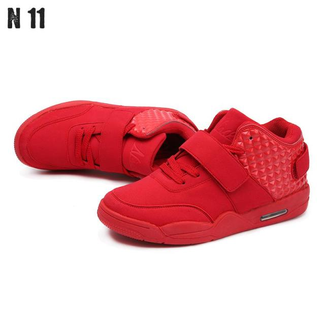 2016 Brand Designer Winter Fashion Men Shoes High Top Red Suede Leather Boots Men's Causal Shoes Sport Male Shoes Zapatos Hombre