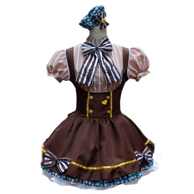 Braun Französisch Maid Kleid Frauen Sweet Lolita Kleid Anime Cosplay ...