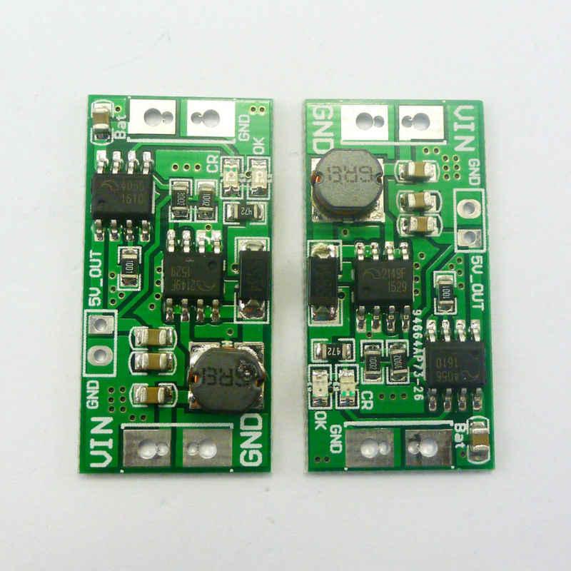 2 pièces DD05CRTA DC 0.9-5V à 4.2V 5V Boost chargeur Module ME4056 carte pour 18650 lithium batterie LED bricolage
