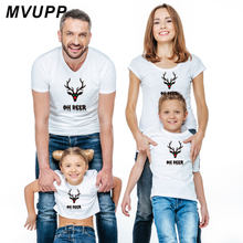 7f3ab3c1 Family t shirt christmas clothes for mother daughter father son mommy and me  baby matching outfits