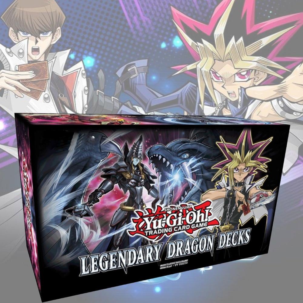 153Pcs/Set Yu Gi Oh Trading Game Cards Legendary Dragon Decks English Yu-Gi-Oh Cards Anime YuGiOh Game Cards For Collection Box(China)