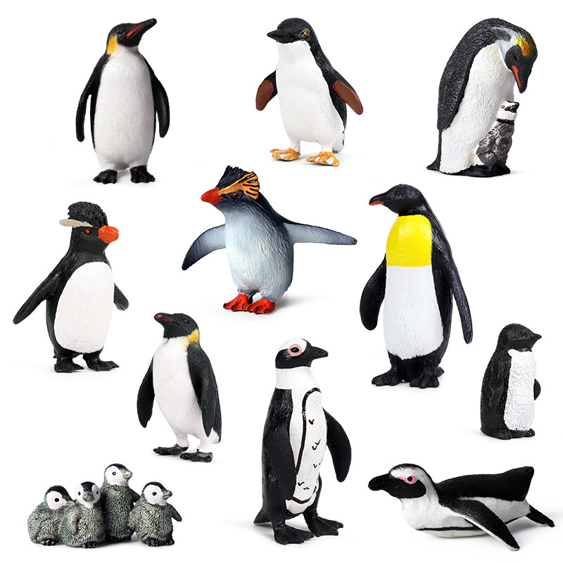 Action Figure Penguin Simulation Models Ocean Animal Model Kids Educational Early Learning Preschool Plastic For Kids Toys