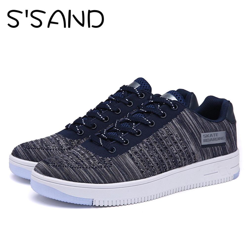 Skate shoes 2017 - 2017 Flywire Men S Sneakers Light Breathable Outdoors Running Sports Shoes Leisure Men S Skate Boarding Sports Sneakers