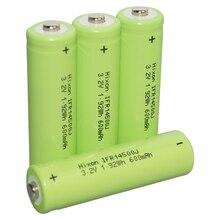 4 pcs Hixon LiFePo4 IFR14500 celular 3,2 v 600 mah bateria recarregável com certificação UL und DAS NAÇÕES UNIDAS