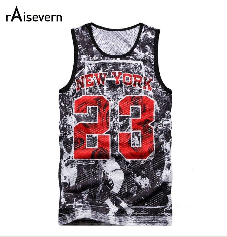 le dernier 3c378 f2b6b € 7.7 30% de réduction Raisevern nouveau 2019 été débardeur hauts  impression 3D New YORK Jordan 23 gilet Fit Slim sans manches t shirts d'été  ...