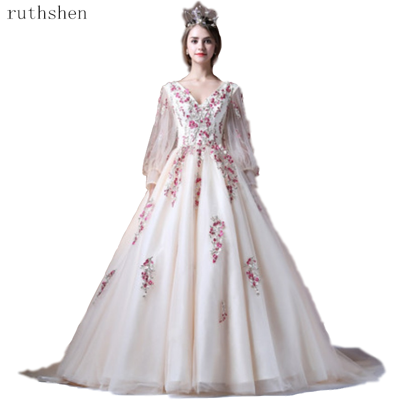 2019 Ball Dresses Applique Quinceanera Dresses Long Sleeves Vestidos De 15 Sixteen Sweet Debutante Gowns Robe