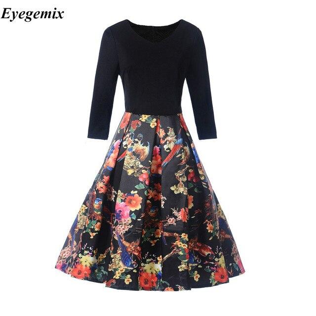 Floral Vintage Dresses a Line