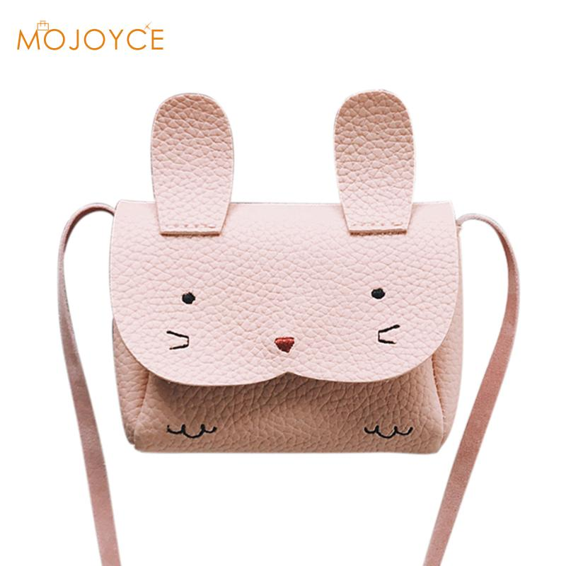 PU Leather Kids Rabbit Mini Messenger Bag Baby Girls Handbag Coin Purse Children Crossbody Bag for Girls Ladies Shoulder Bags new cute kids tote girls shoulder bag mini bag bowknot handbag designer pu children baby tassel messenger bag women bag