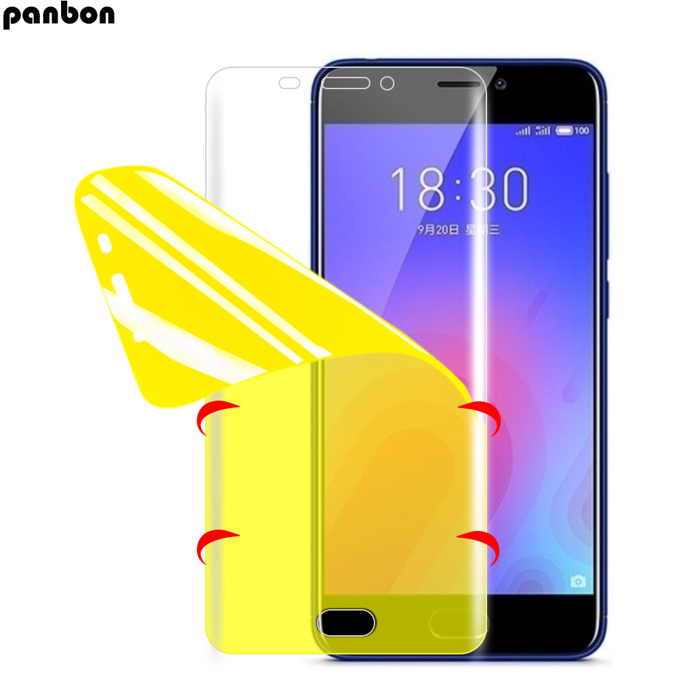 Full Cover Soft Hydrogel Film + <font><b>TPU</b></font> soft back <font><b>case</b></font> For <font><b>Meizu</b></font> X8 M6 Note 8 M6S <font><b>M6T</b></font> 15 lite M15 16 16th plus Screen Protector image