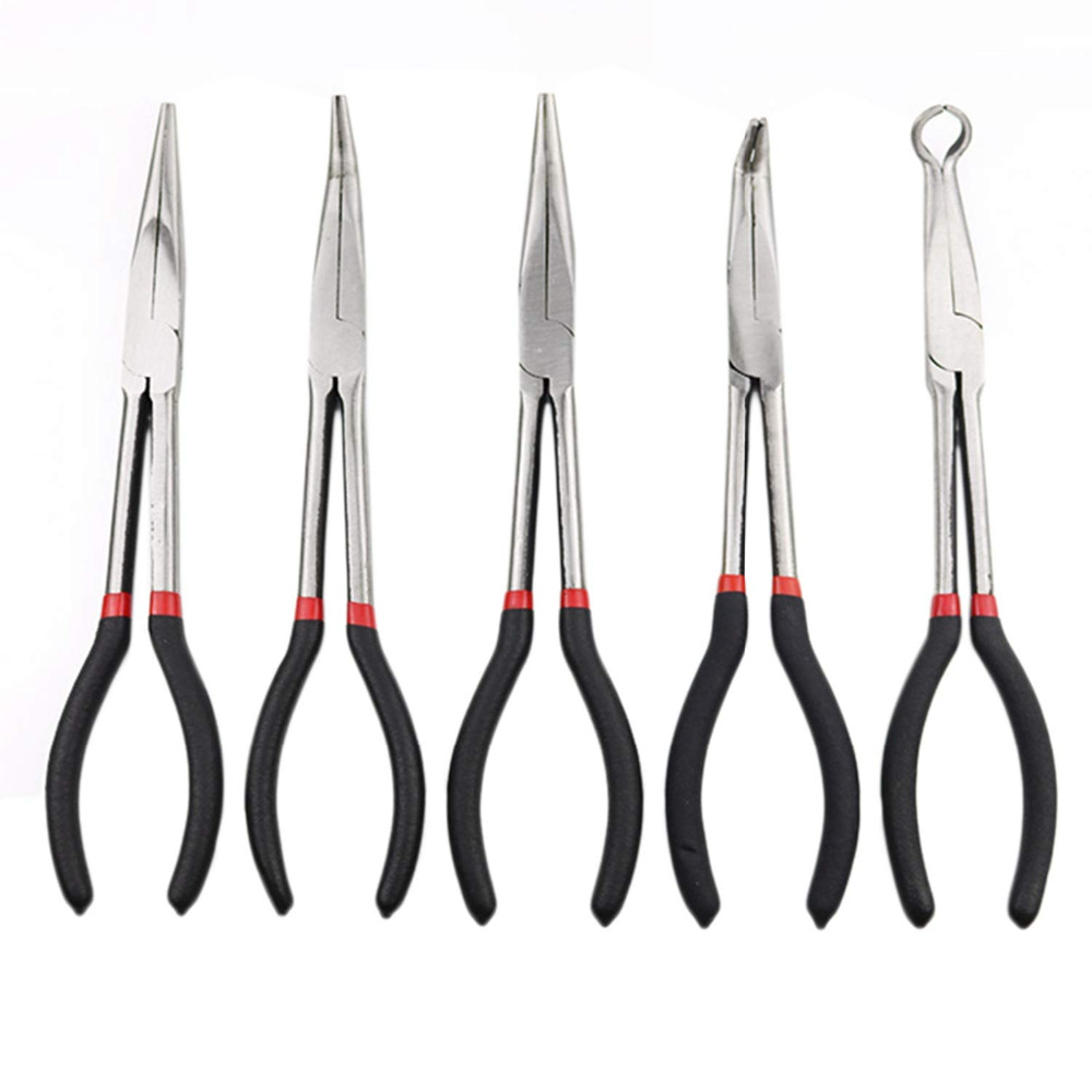 1pcs Stainless Steel Needle Nosed Pliers Spark Plug Pliers Hand-held 11 inch Plier Kits Automotive Repair Disassembly Tools1pcs Stainless Steel Needle Nosed Pliers Spark Plug Pliers Hand-held 11 inch Plier Kits Automotive Repair Disassembly Tools