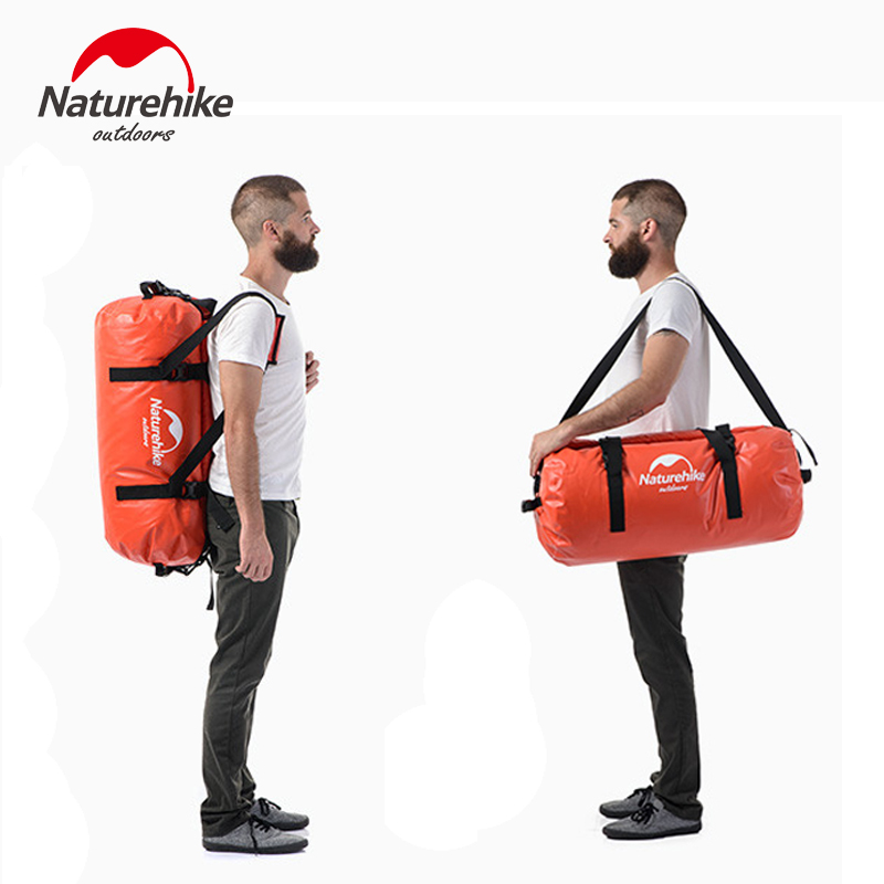 40L/60L/90L/120L Waterproof 20000mm Swimming Kayaking Dry Bag Duffel Bag Sport Luggage Shoulder Bag With Double Shoulder Straps