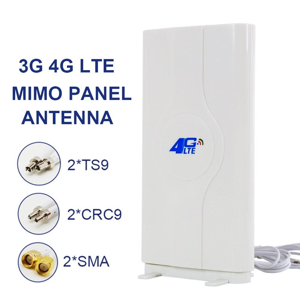 Antenne Mobile d'antenne 800 ~ 2710 MHz 88dbi 3g 4g Lte 2 * SMA/2 * CRC9/2 * TS9 connecteur mâle Booster antenne panneau Mimo + 2 mètres
