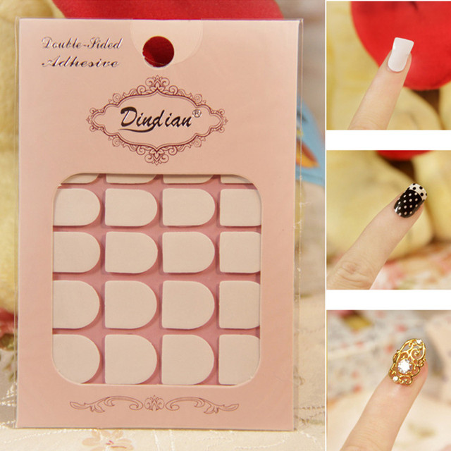 Double Side Adhesive Tapes White Nail Stickers Art Fingernail Sticky