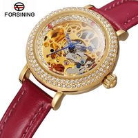 New Diamond Watches Women Skeleton Dial Watch Automatic Women Watches Top Brand Luxury 2018 Wrist Watches For Women Reloj Mujer