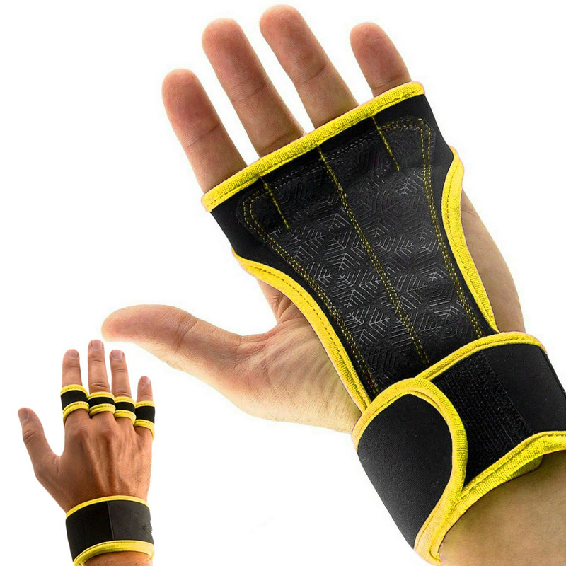 FITNESS GRIPS Wrist Support 1Pair Strong Hand Protectors With Wrist Brace Comfortable Grips For WOD Cross Training