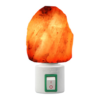 Mini Hand Carved Natural Crystal Himalayan Salt Lamp Night Light With UL Approved Wall Plug Free