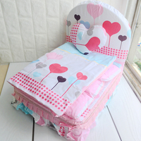 Lovers Dog Bed For Small Dogs Blue Pink Princess Pillow Blanket Cushion Bedding Sets For Pets