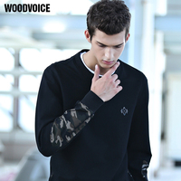 Woodvoice Brand Autumn Winter Men S Black And Army Camouflage Hoodies Sweatshirt Men Streetwear Hip Hop