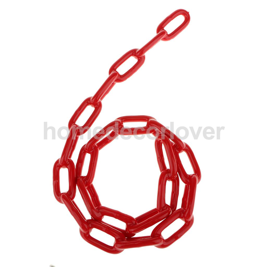 Durable Plastic Coated Iron Swing Link Chain 1.5 M Length Outdoor Toy Accessory Red