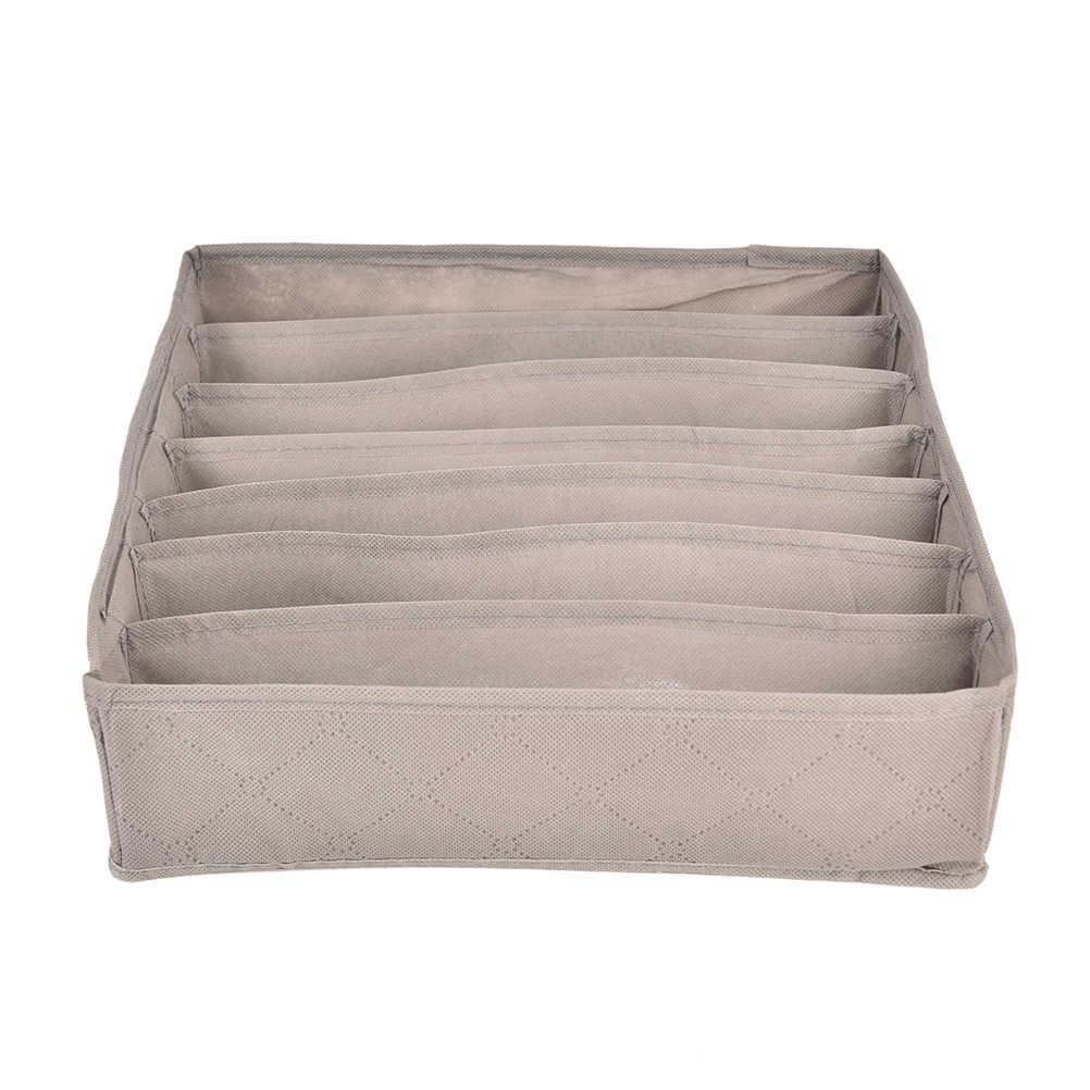 3 шт. Nowoven домашняя коробка для хранения нижнее белье Органайзер коробки бюстгальтер галстук носки складной контейнер органайзеры различные сетки дизайн