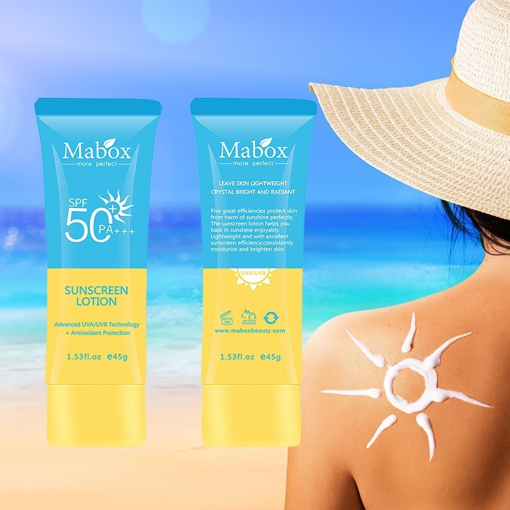 MABOX Natural SPF 50 Gel Anti Acne Hydrating Whitening Day Creams Oil-Control  Anti Aging Wrinkle Collagen Sunscreen Cream