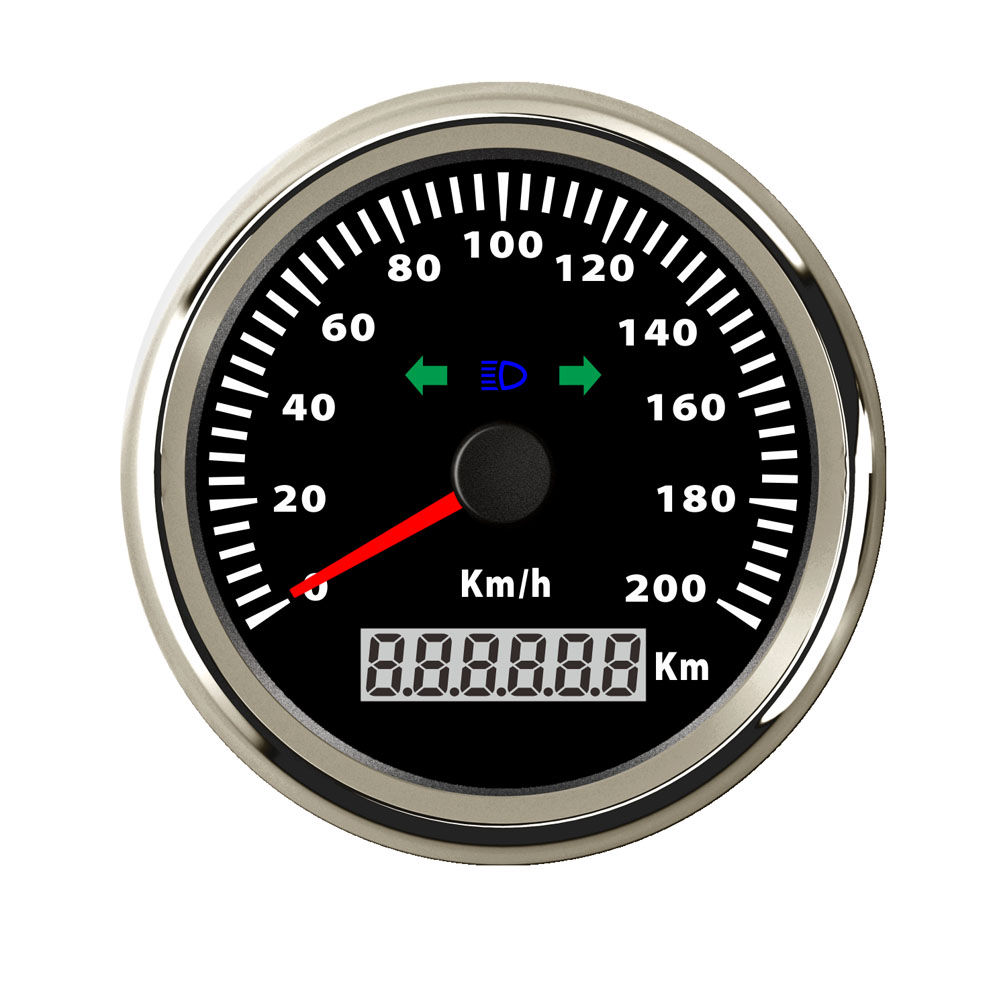 85mm LCD GPS Speedometer Gauge 200 Km/h Digital Speedometer fit Car Boat Motorcycle 12V 24V with Turning Backlight Indicator 12v 24v 85mm gps speedometer waterproof for car motorcycle boat yacht vessel with blue backlight